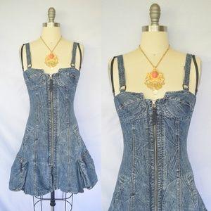 Marithe  Francois Girbaud corset denim dress